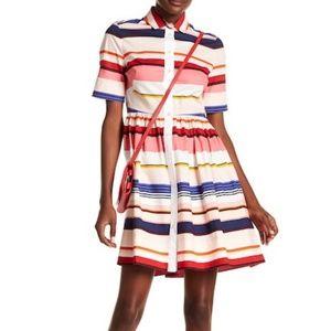 NWT Kate Spade Berber Striped Shirtdress